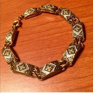 Jewelry - Vintage Enamel Inlay Bracelet